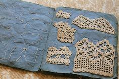 vintage crochet sampler book