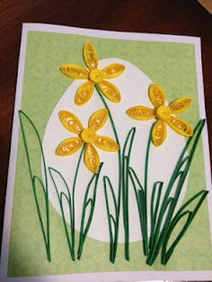 Quilled Daffodil Easter Card