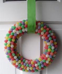 Gumdrop wreath, yum!