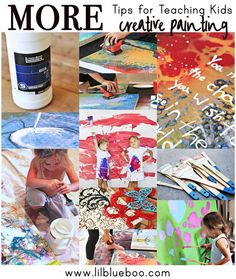Tips for teaching kids to paint creatively (adults too!) via lilblueboo.com #diy #painting #art