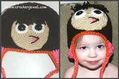 Create a kid's crochet hat with a face! Dora Hat - Media - Crochet Me