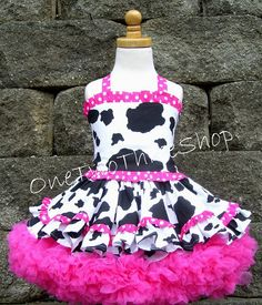 Custom Boutique Clothing  Western pageant casual girl by amacim, $99.00......ok maybe not cow pattern, but I could see Nat wearing this.
