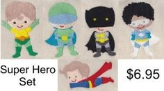 Super Hero Embroidery Design Set