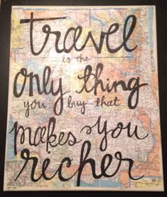 Travel quote canvas, Kalligraphy Designs
