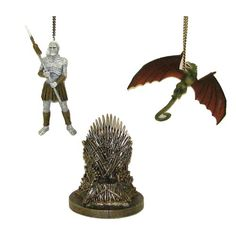 Game of Thrones Christmas Ornaments! 4 1/4-Inch Figural Ornament Set