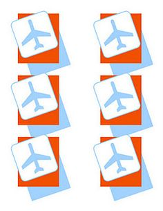 Airplane Free Printable Luggage Tags