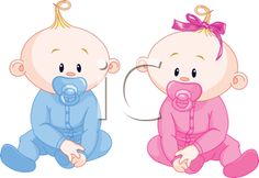 iCLIPART - Royalty Free Clipart Image of a Baby Girl or Boy