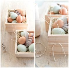 Use Craft Store Wood Bins instead of Easter Baskets This Year For a Modern Take on the Day!