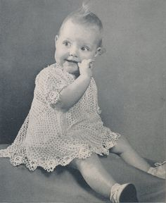 Vintage Toddler Girl IRISH LACE Hand Crochet Dress Pattern Instructions with Beautiful Floral Accents - INSTANT Download