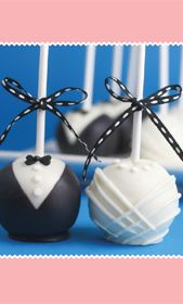 directions for bride and groom cake pops