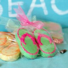 Flip Flop Nutter Butter Cookies- So cute for a last day of school party!
