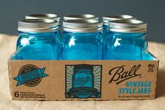 Ball relaunches iconic blue pint jars in celebration of their 100 year anniversary.    Squeeeee!!!!