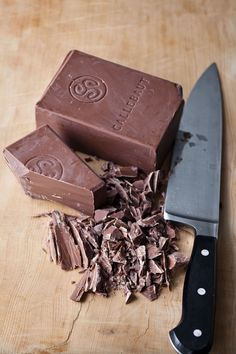 """Callebaut is my favorite chocolate to use for chocolate shavings"" - Ina Garten"