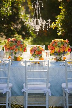 Absolutely gorgeous! yellow flowers, summer centerpieces, citrus wedding, color combos, wedding colors, garden parties, wedding centerpieces, summer weddings, table designs