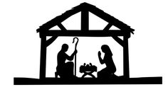 Nativity Scene Silhouette Nativity scene silhouette