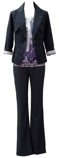 Wear #CAbi #Spring13 now! Rock the Bossy Blazer, Posh Top, and Step Out Trouser for a workable winter-to-spring transition ensemble!