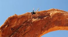 Insane rope swing #utah #adventure, what happened to not climbing the arches?