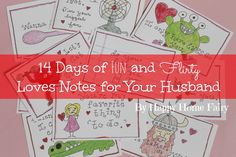 14 Days of Fun and Flirty Love Notes for Your Husband - FREE Printable!
