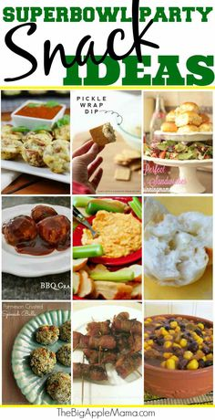 Super Bowl Party Snack Ideas!