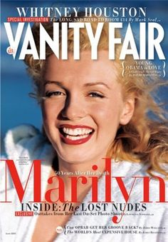 Marilyn Monroe on the cover of Vanity Fair for June 2012.