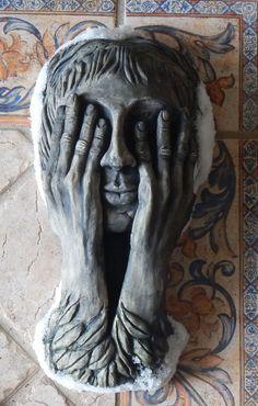 Weeping Angel Wall Sculpture