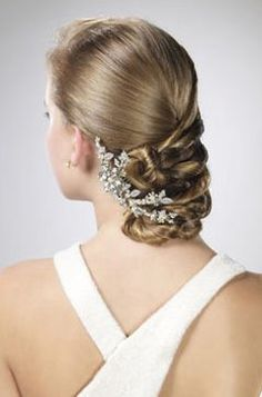 #wedding side knot hairstyle