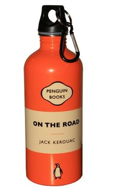 On The Road Water Bottle by penguinbooks #Water_Bottle