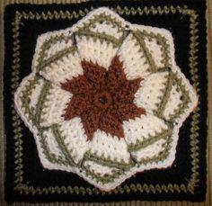 "The Answer My Friend...is Blowin in the Wind (Pinwheel Star) 9"" pattern by Bonnie Pierce ~ free pattern"