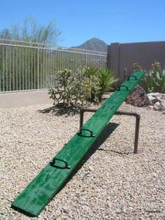 teeter totter, my kids will never know the joy of flying off it!