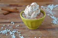 Rice Pudding with Baileys Cinnamon Whipped Cream