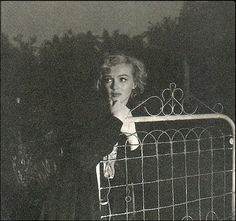 """1953: Marilyn Monroe photographed by Andre De Dienes in the back alleys of the Hollywood Hills. M told Dienes to title the photographs """"The End of Everything""""."""