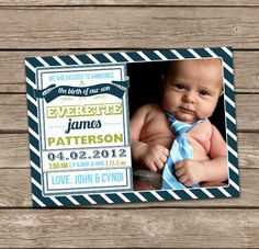 LOVE these birth announcements! #baby