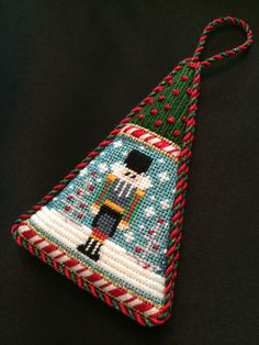 Gusseted Nutcracker Ornament ~ canvas by Associated Talents
