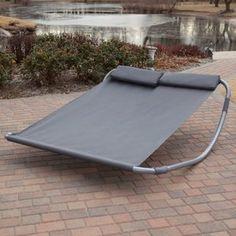 Rocking Hammock - this thing looks pretty cool. Maya Double Sun Lounger Hammock Bed $170