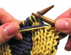Wonderful tutorials for Double Knitting on this site ... basics, shaping and more