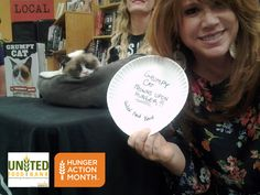 Grumpy Cat is frowning upon hunger with United Food Bank this #HungerAction month! Let's work together to fight hunger and keep this cat a little less grumpy. #UFBendshunger #Arizona #Tempe #Phoenix
