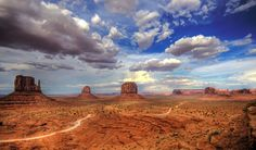 Valley Drive - Monument Valley is located on the southern border of Utah with northern Arizona. The valley lies within the range of the Navajo Nation Reservation