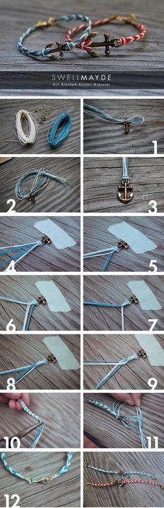 DIY Braided Anchor Bracelet DIY Braided Anchor Bracelet by diyforever