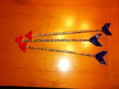 Brave Birthday Party favors. Arrows made with gum sticks and duck tape.