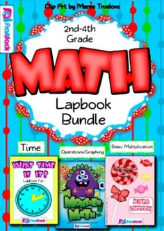 Math Lapbook Bundle - This title has combined my three math lapbooks into one bundle. $  Monster Math Lapbook -  focuses on operations and graphing and can be modified for many skill levels  Telling Time Lapbook -  contains many activities for telling time with analog and digital clocks  Multiplication Facts 0-12 Lapbook - students practice multiplication facts 0-12, multiples, factors, graphing, etc.