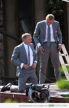 Daniel Craig and his body double