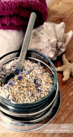 DIY Lavender Oat Bath Soak form OATrageous Oatmeals