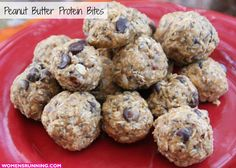 Peanut Butter Protein Bites. Perfect for pre-workout energy and post-workout refueling!