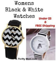 Black and White Watc