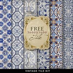 Freebies Vintage Tile Kit