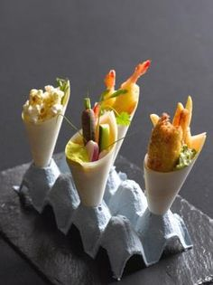canape cone holder - love this idea