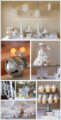 silver christmas theme.. beautiful!