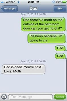 oh m gosh.. someone knows my fear of moths!