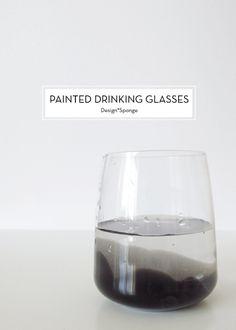 10 MAY DIYS – Painted Drinking Glasses
