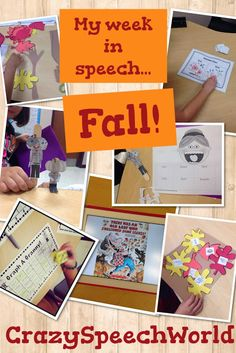 Crazy Speech World: Fall Speech Activities! Pinned by SOS Inc. Resources. Follow all our boards at pinterest.com/sostherapy for therapy resources.